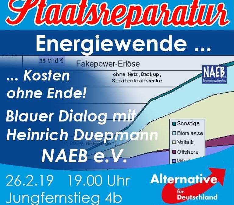 Blauer Dialog mit Heinrich Duepmann: Energiewende