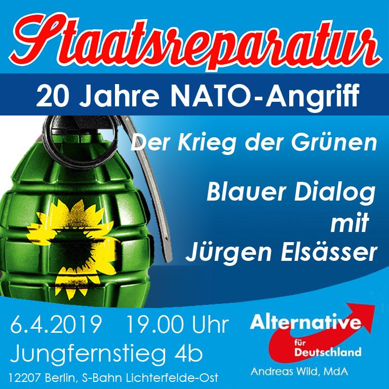 Blauer Dialog mit Jürgen Elsässer: Balkankrieg vor 20 Jahren