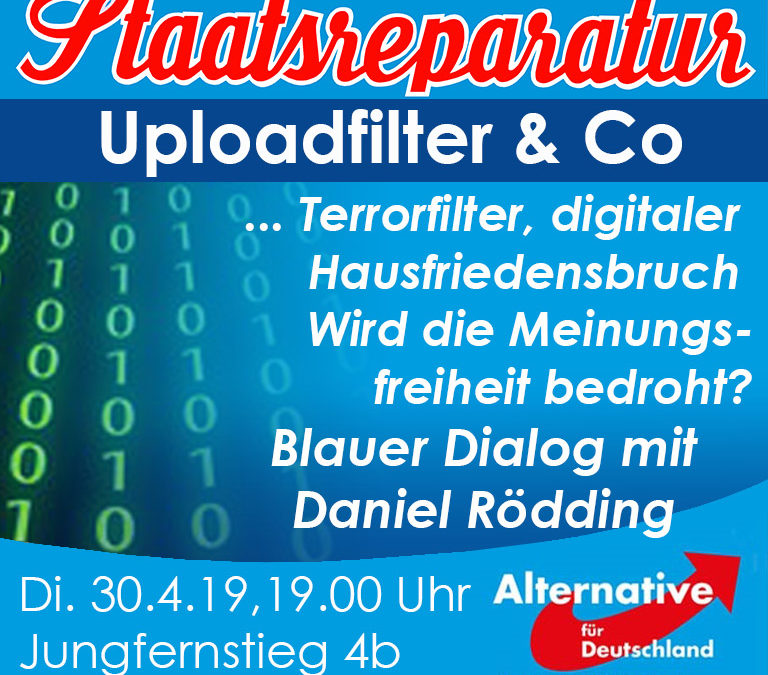 Blauer Dialog mit Daniel Rödding: Uploadfilter