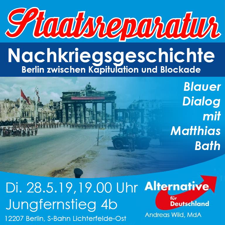 Blauer Dialog mit Matthias Bath: Berlin in der Nachkriegszeit