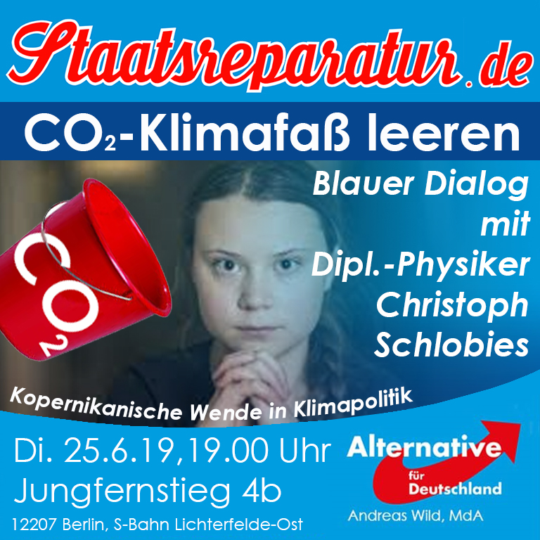 Blauer Dialog mit Christoph Schlobies: Wende in der Klimapolitik