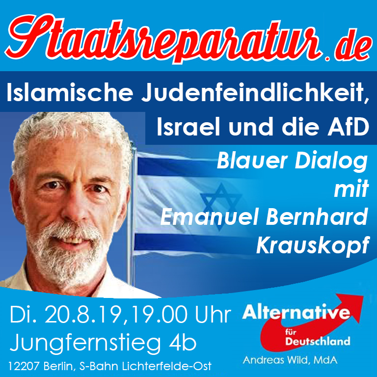 Blauer Dialog mit Emanuel Krauskopf: Islamische Judenfeindlichkeit, Israel und die AfD