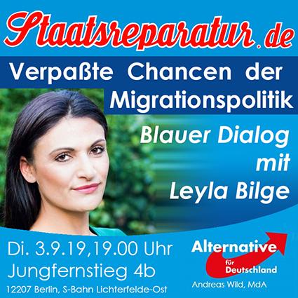 Blauer Dialog mit Leyla Bilge: Verpaßte Chancen der Migrationspolitik