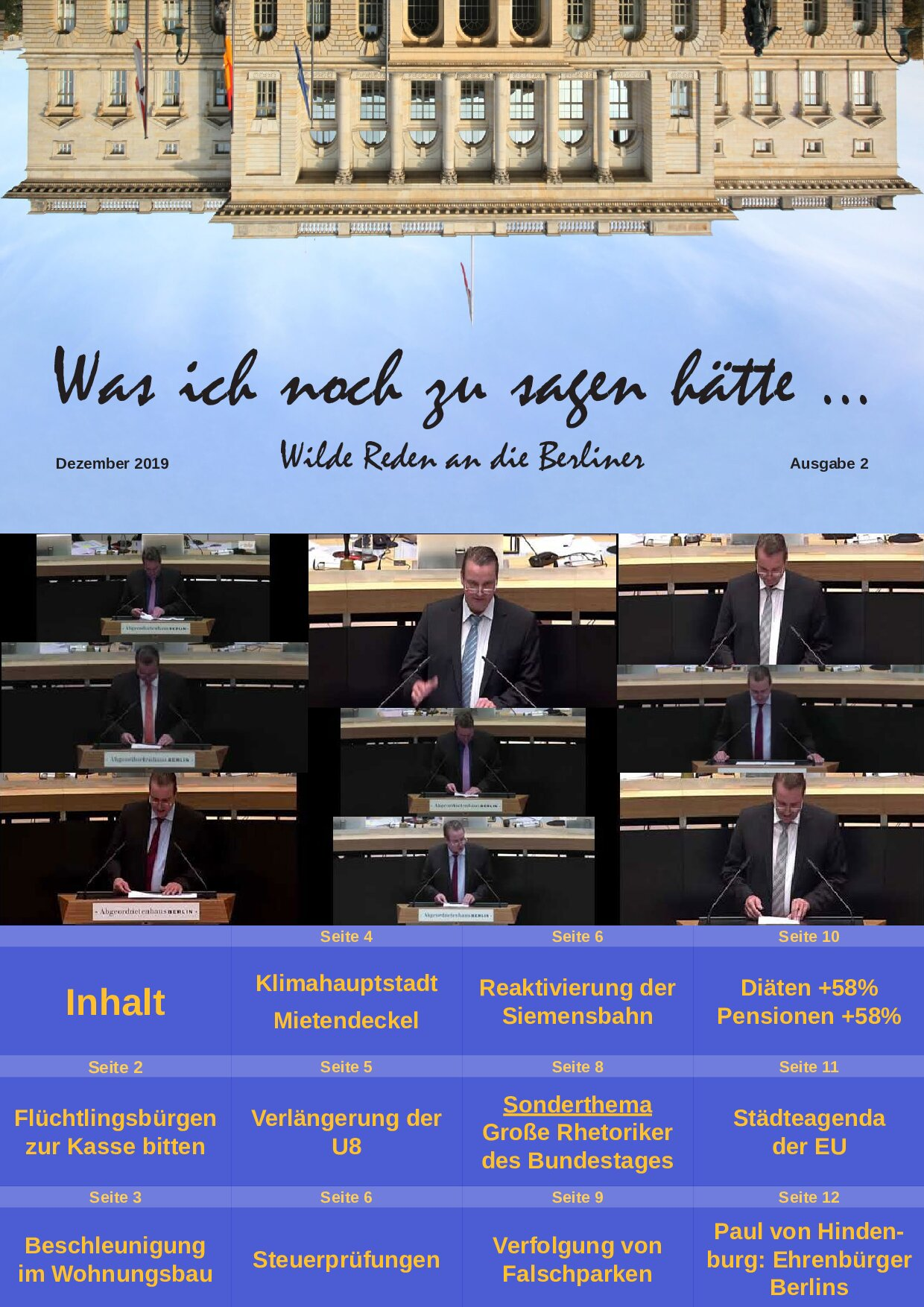 Was ich noch zu sagen hätte – Wilde Reden an die Berliner II