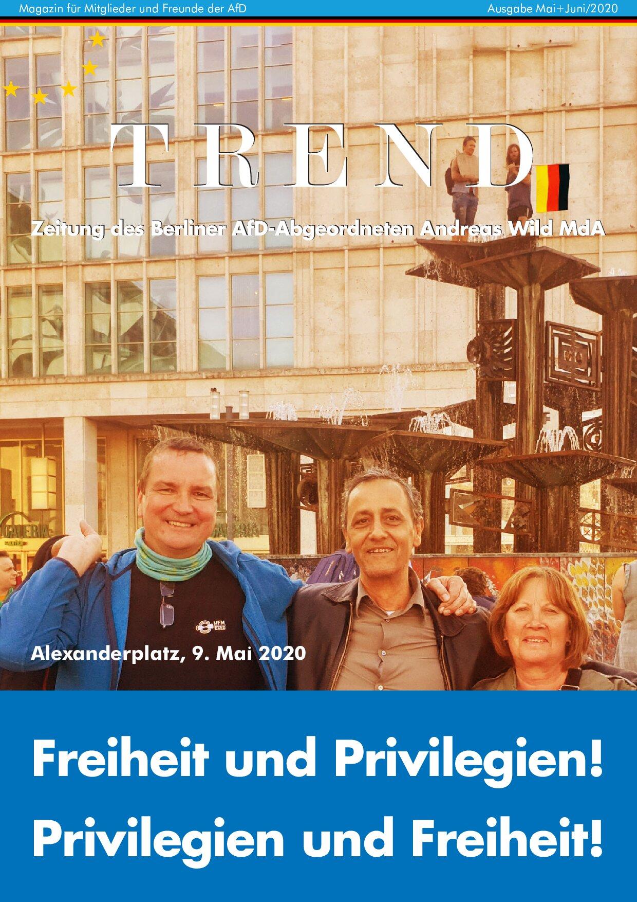 TREND Mai/Juni – Freiheit und Privilegien!