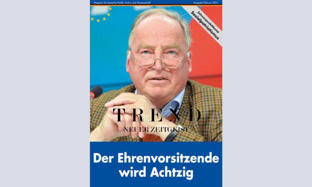 TREND-Magazin Februar 2021: Der Ehrenvorsitzende wird Achtzig